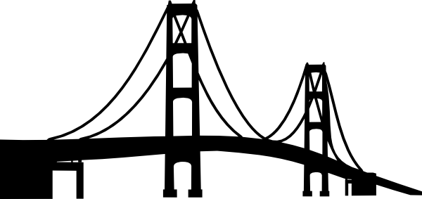 graphic transparent Mackinac svg file pinterest. Bridge clipart black and white