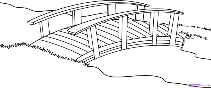 clip stock Bridge clipart black and white. Pencil in color