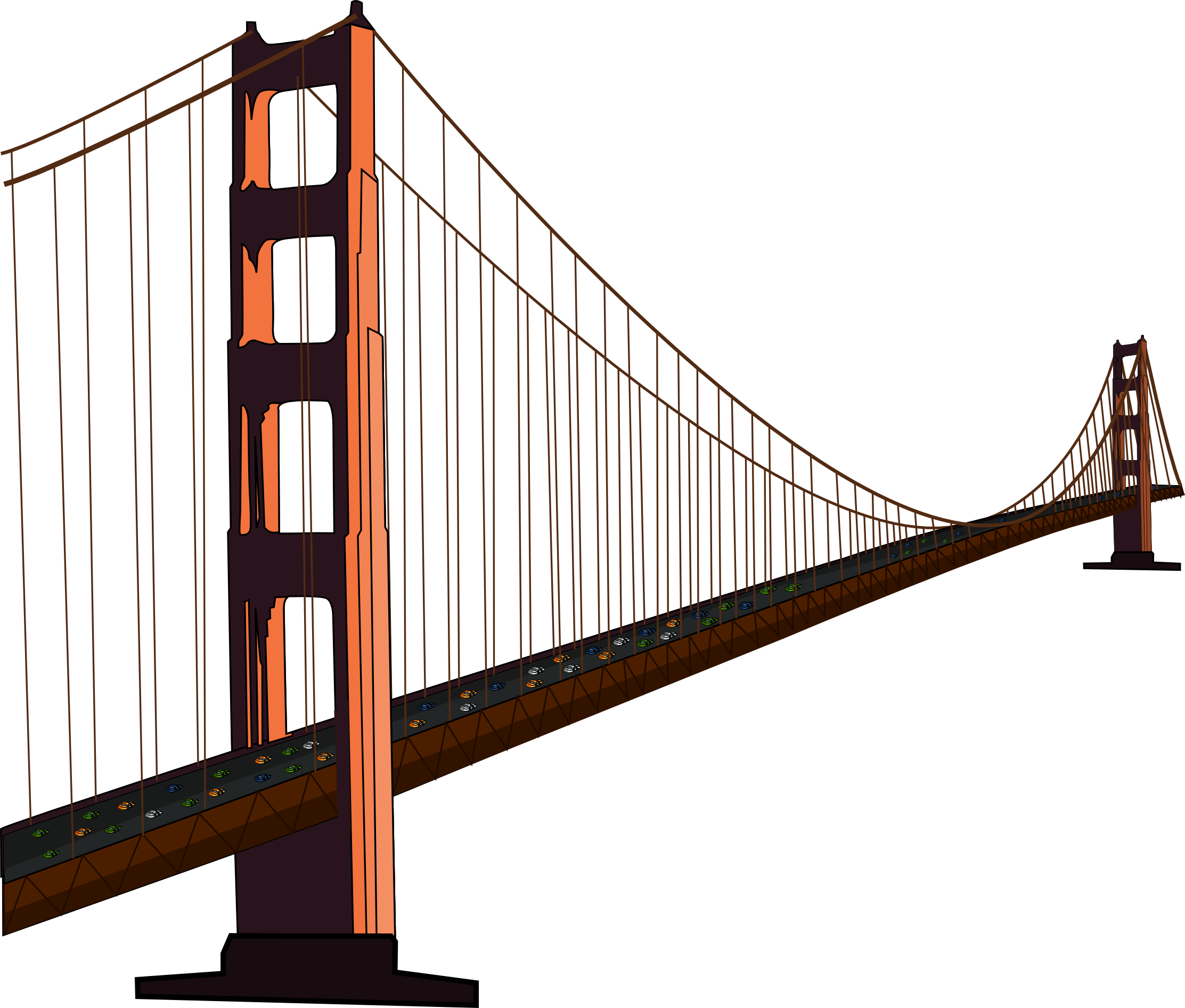 graphic freeuse Golden drawing clip art. Bridge clipart gold gate