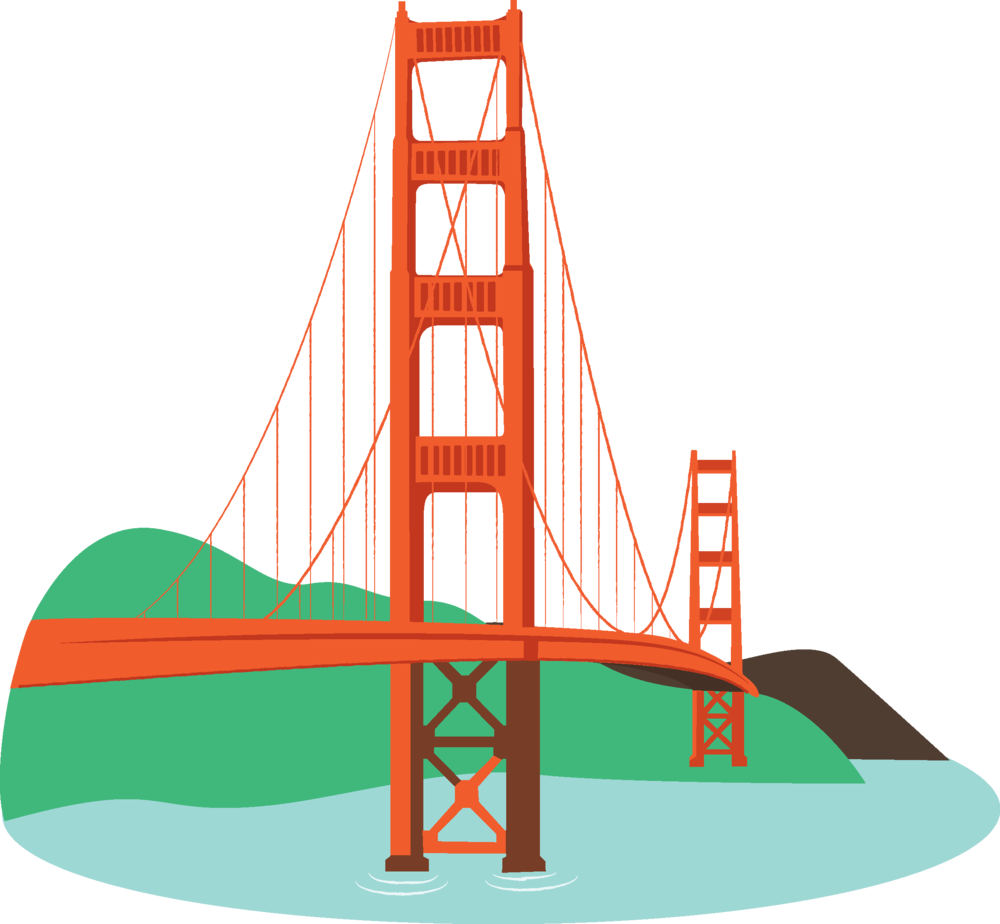 free download Image of bridges golden. Bridge clipart gold gate
