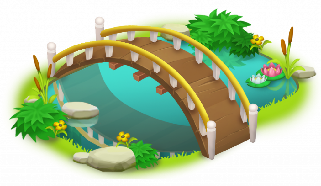 clip royalty free Simple and pond png. Bridge clipart line art.