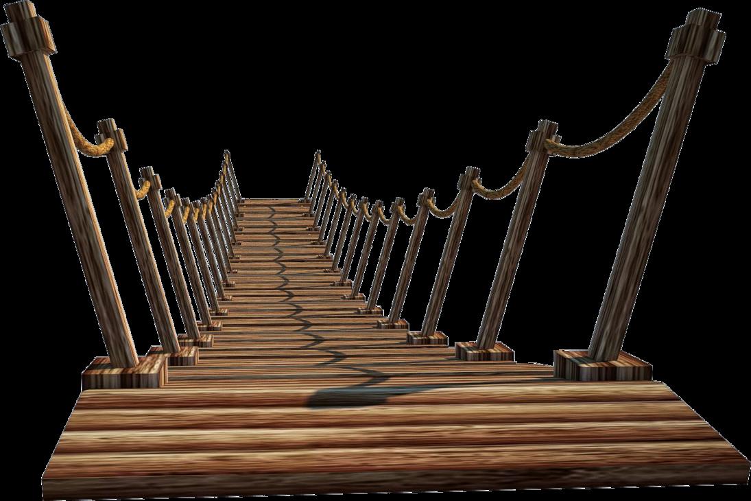 clip art black and white stock Bridge clipart wood bridge. Wooden a suspension png