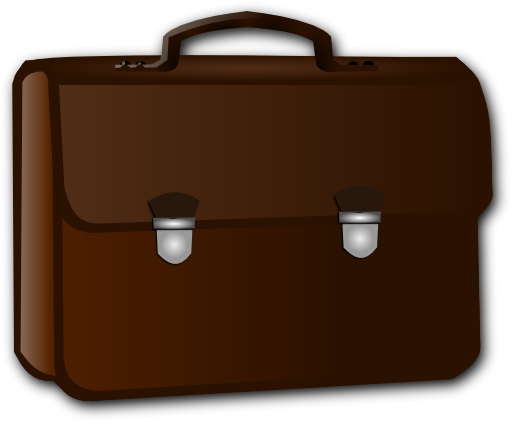 library Free business cliparts download. Briefcase clipart.