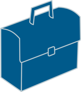 picture transparent download Briefcase clipart. Blue clip art at
