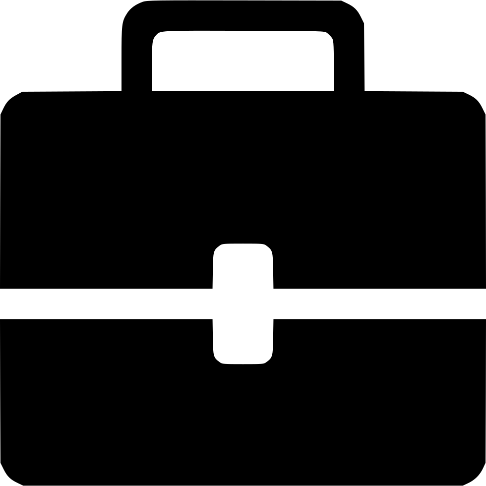 vector black and white Briefcase Svg Png Icon Free Download