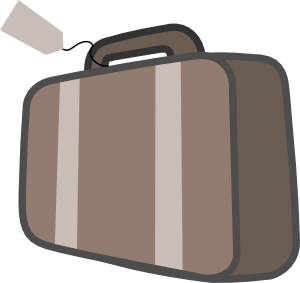 transparent Bag luggage clip art. Briefcase clipart travel case.