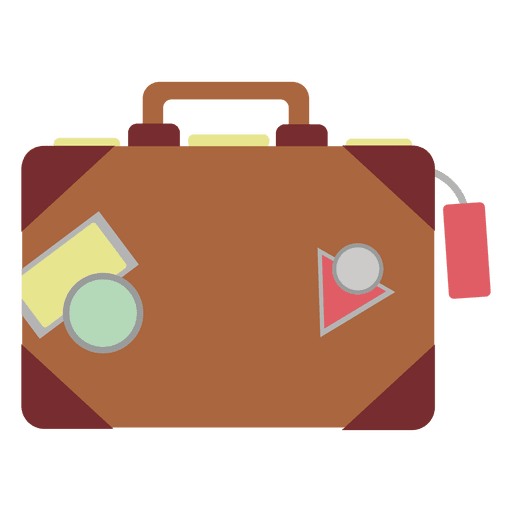svg royalty free Travel bag icon