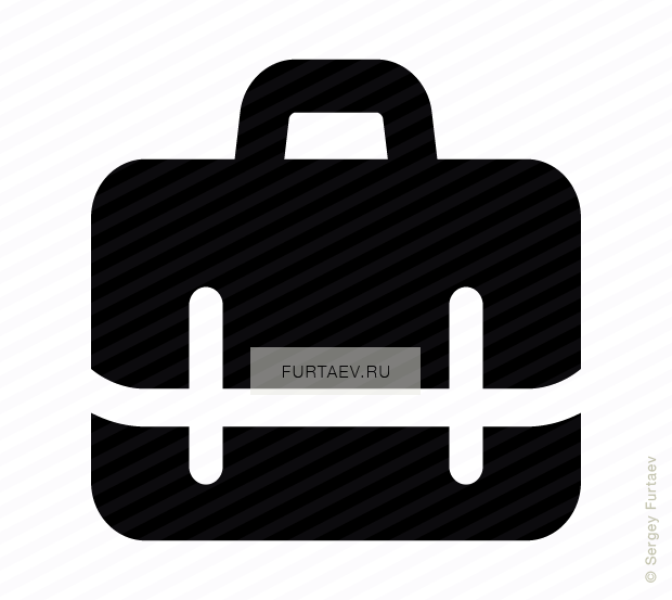 vector royalty free library Briefcase vector. Icon of suitcase