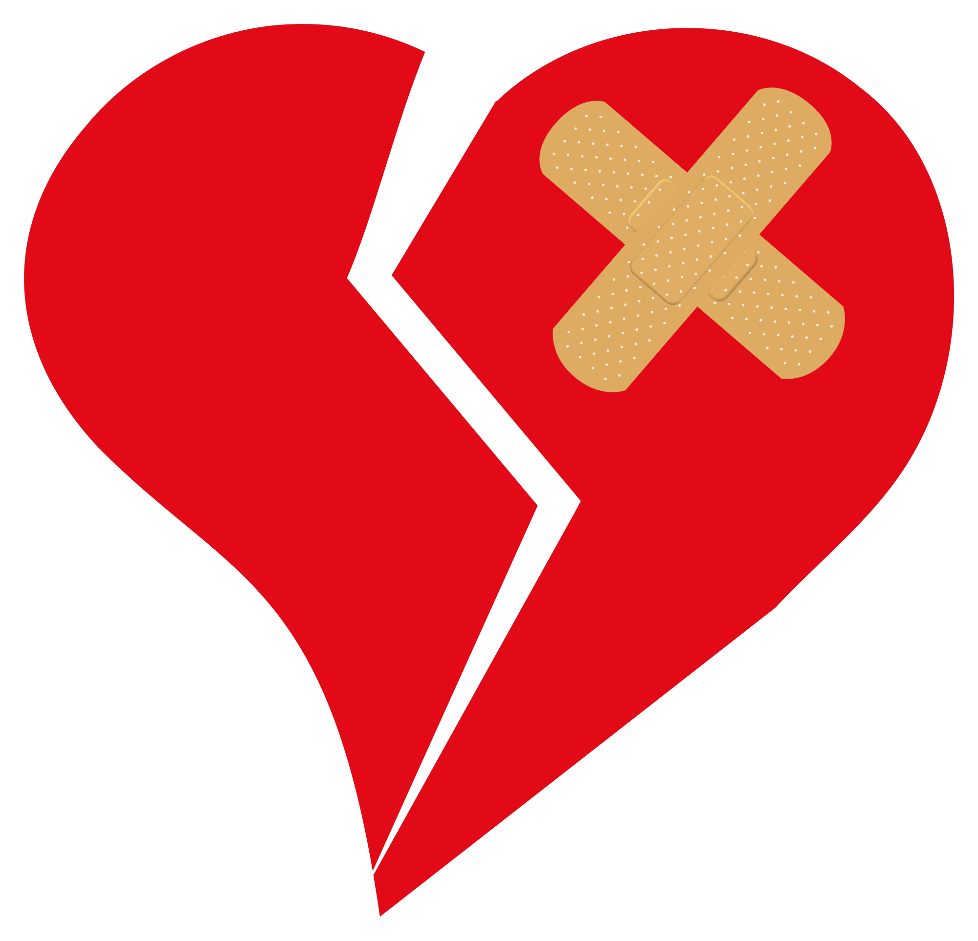 vector black and white What to do when. Bandage drawing heart