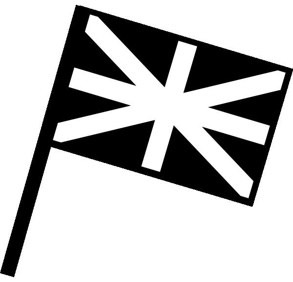 clip art black and white Uk Flag Clip Art at Clker