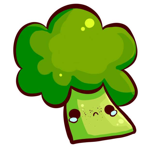 vector royalty free download No one likes by. Broccoli clipart draw