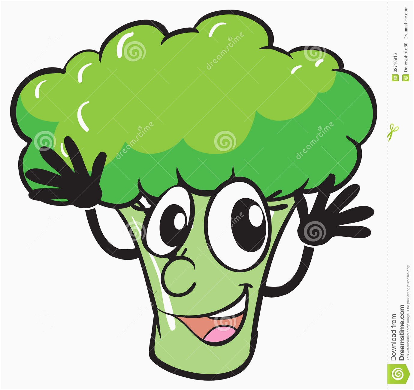 graphic royalty free stock  inspirational free com. Broccoli clipart face