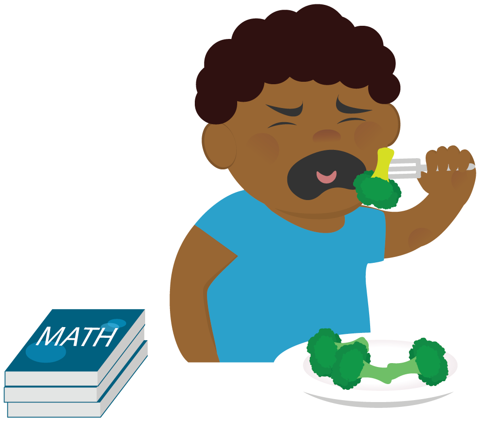 png royalty free library Learning w out words. Broccoli clipart kid.