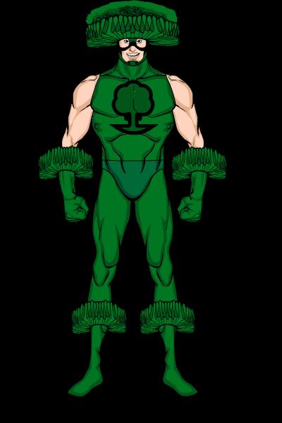 banner royalty free download Broccoli clipart superhero. Broco lee yi
