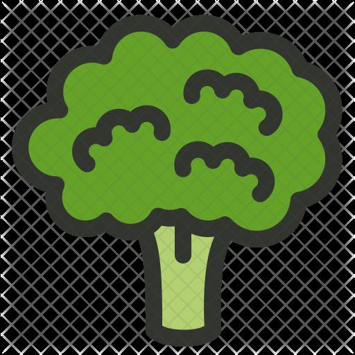jpg transparent library Broccoli Icon
