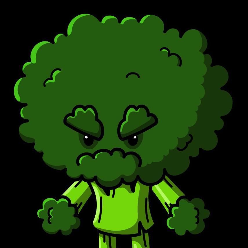 picture black and white stock Grumpy Broccoli