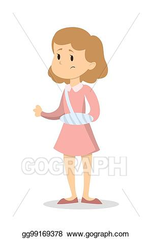 clip art freeuse download Broken arm clipart. Vector art woman with