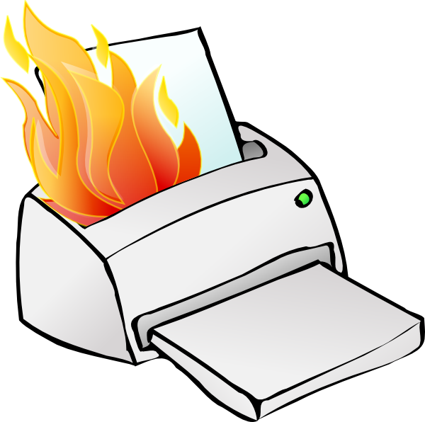 jpg freeuse Printer . Broken clipart