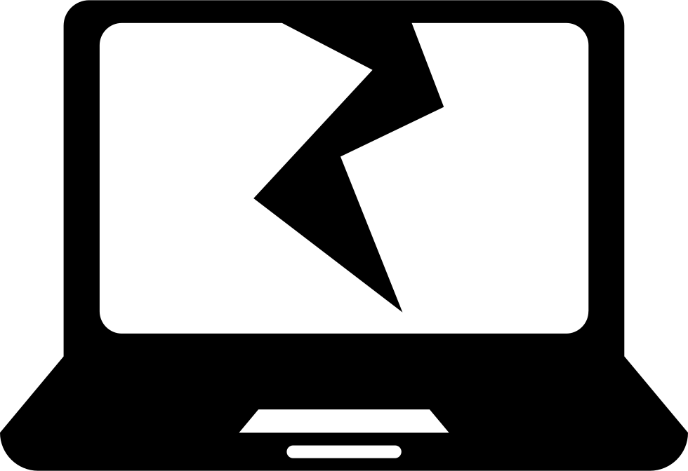 jpg black and white download Broken clipart. Laptop free on dumielauxepices
