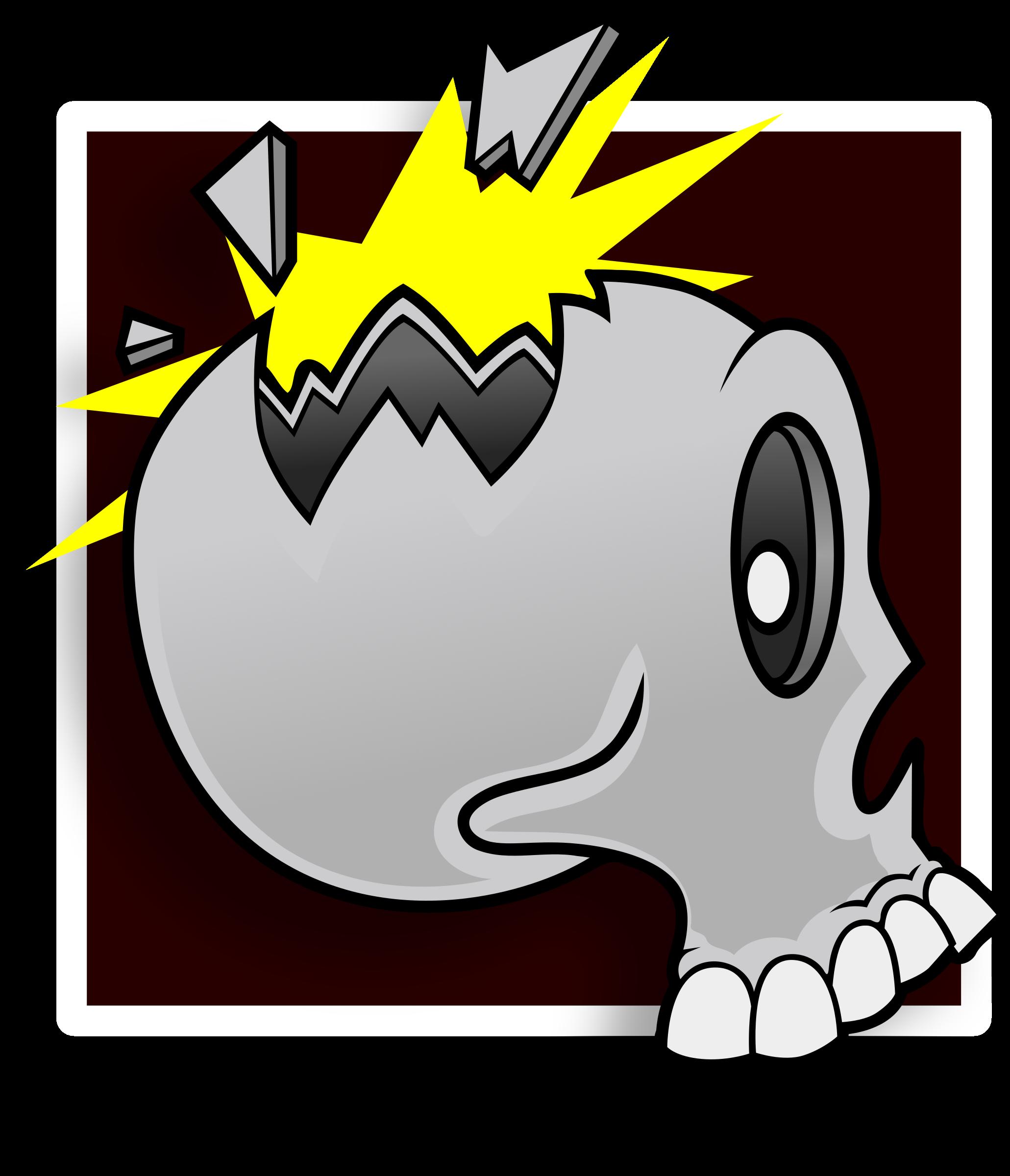 clipart stock Skull avatar big image. Broken clipart