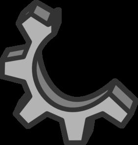 jpg black and white library Half clip art at. Broken clipart broken gear