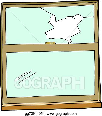 clip art royalty free Vector cartoon illustration . Broken clipart broken window.