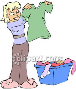 vector transparent Broken clipart clothes. Girl folding clean royalty
