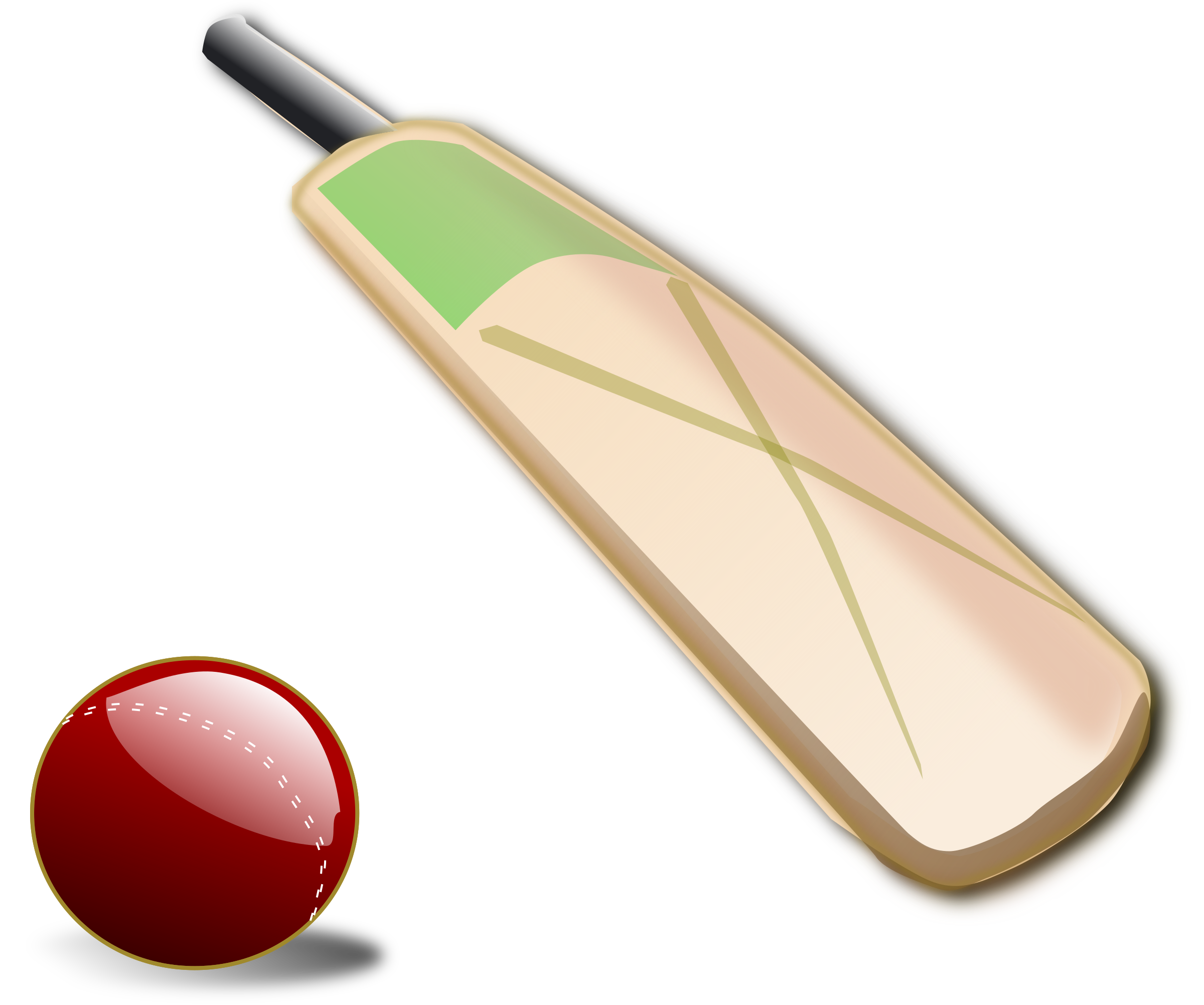 picture royalty free Broken clipart cricket bat. Ball and big image