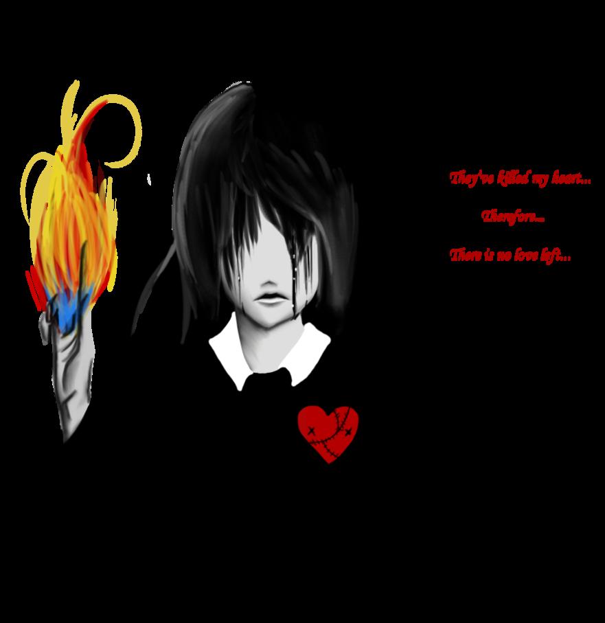 clipart free stock A suffering broken Heart by PhantomSilence