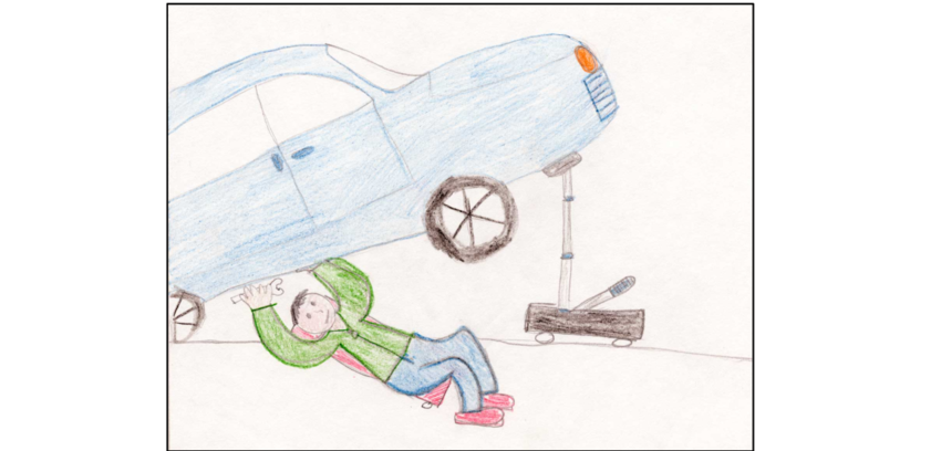 image free library My engineer is fixing a broken car