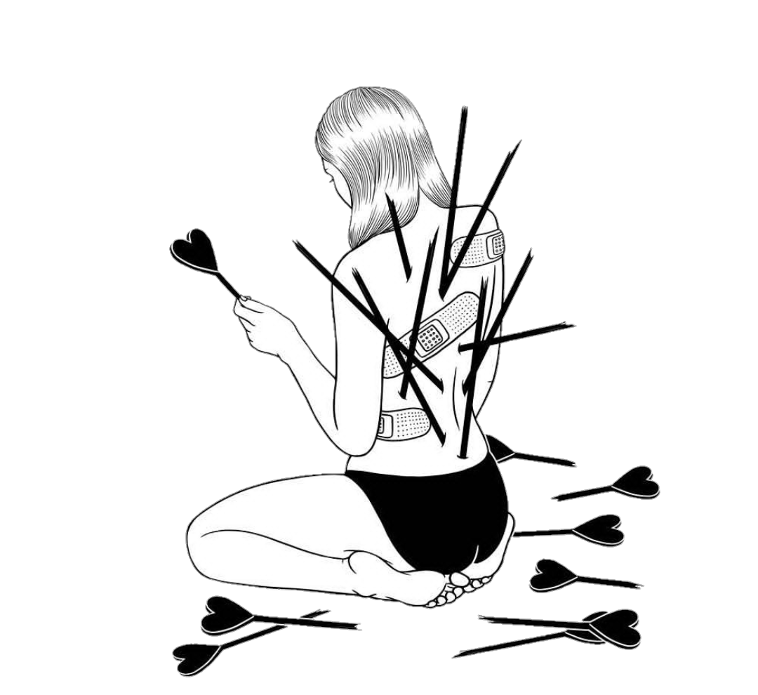 clip transparent library Drawing sad heartbreaking. Heartbroken depression tumblr blackandwhite