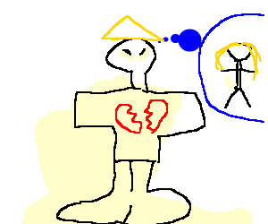 clip art free stock Broken hearted chinaman thinks of lost love