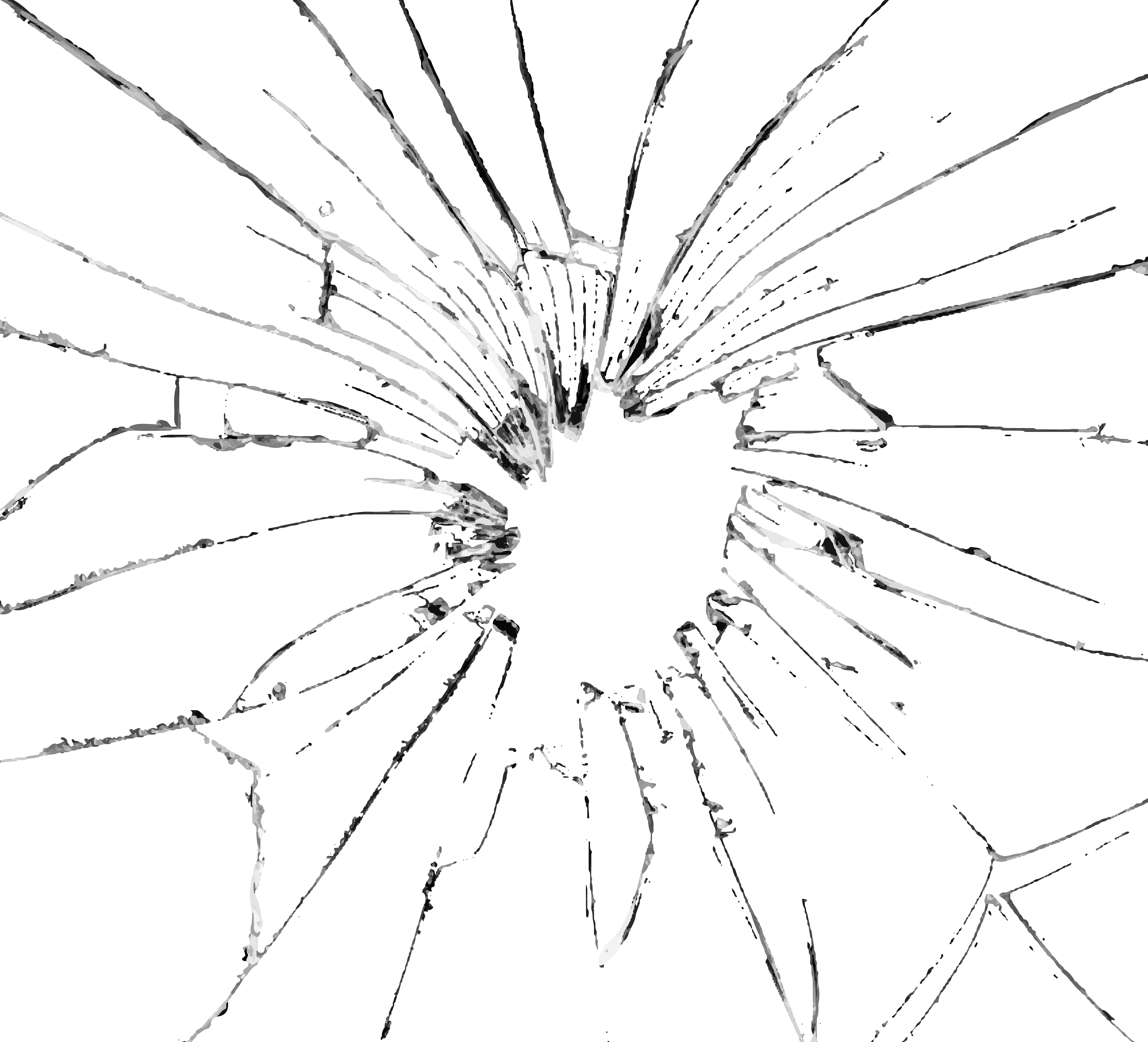banner black and white library Broken effect png clip. Vector cracks glass crack