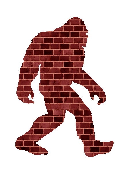 banner transparent stock Bigfoot free images at. Broken brick wall clipart