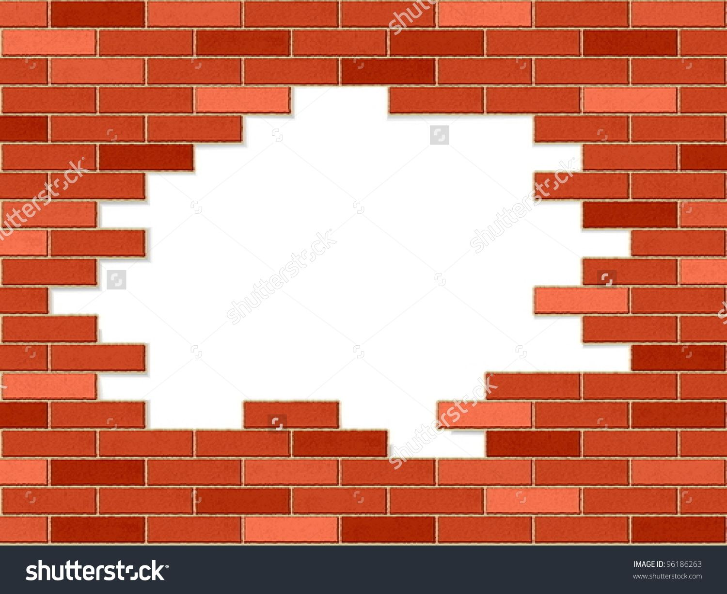 clipart stock Broken wall clipart. Station