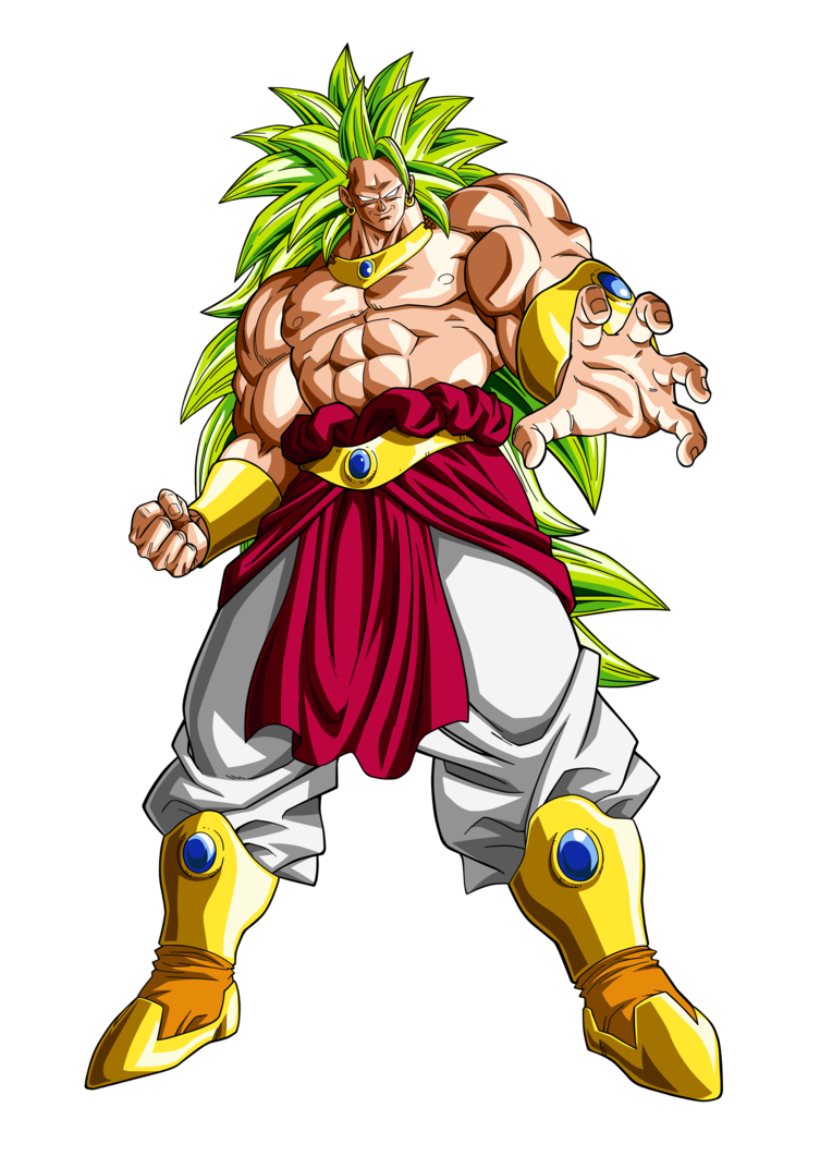clipart black and white library BROLY LSSJ