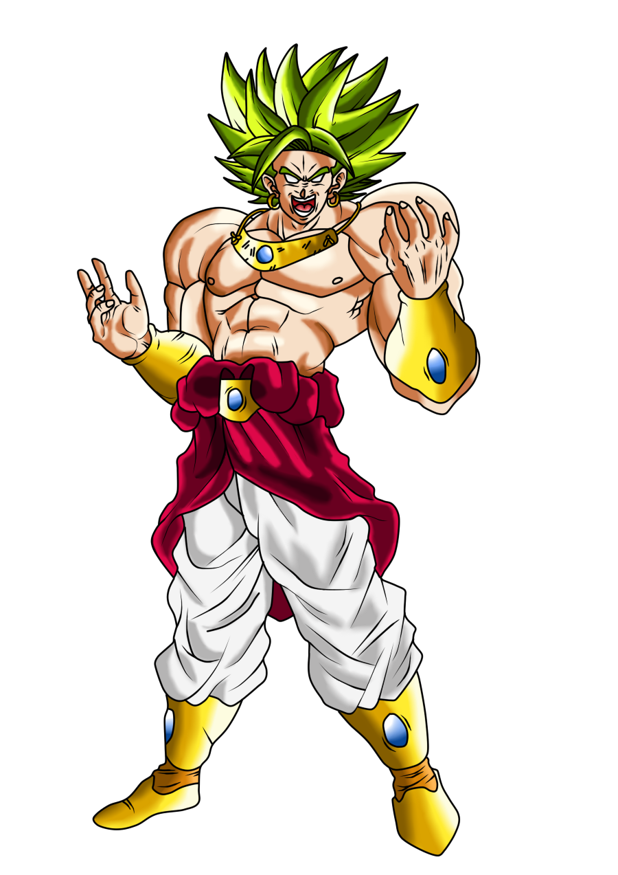 clip art black and white library Broly and Bio