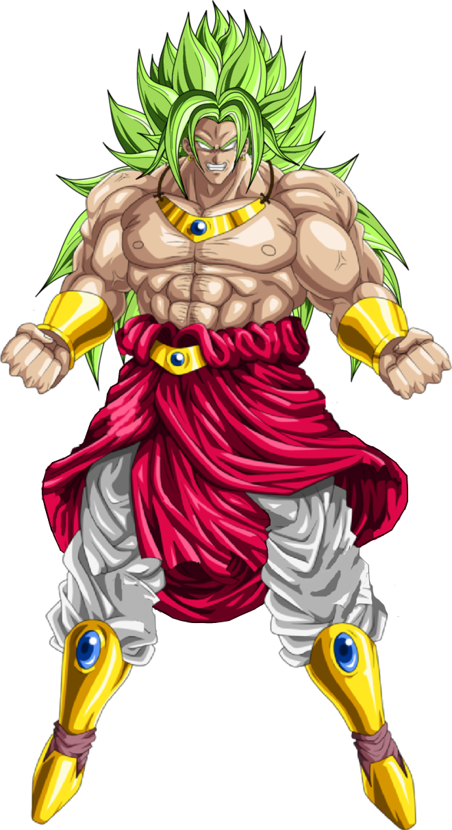 png royalty free library Broly SSJ God PNG by DavidBksAndrade