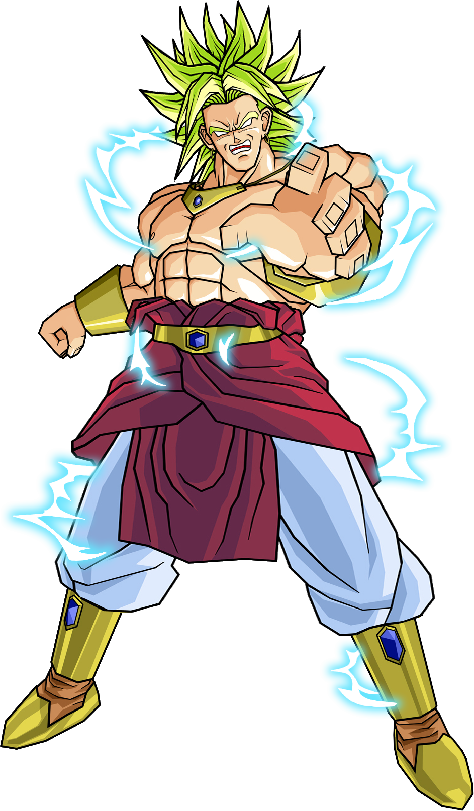 graphic free stock broly transparent ssj2 #90963124