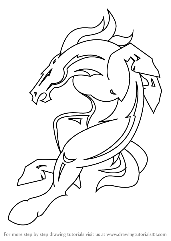 vector stock Learn How to Draw Denver Broncos Mascot
