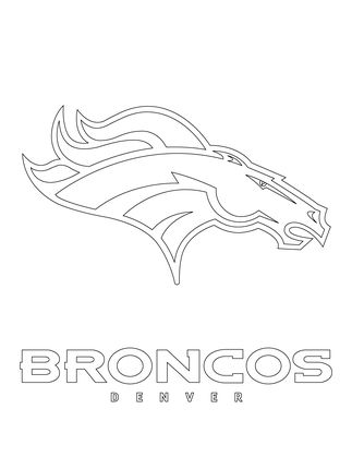 svg royalty free stock Click to see printable. Broncos svg coloring page