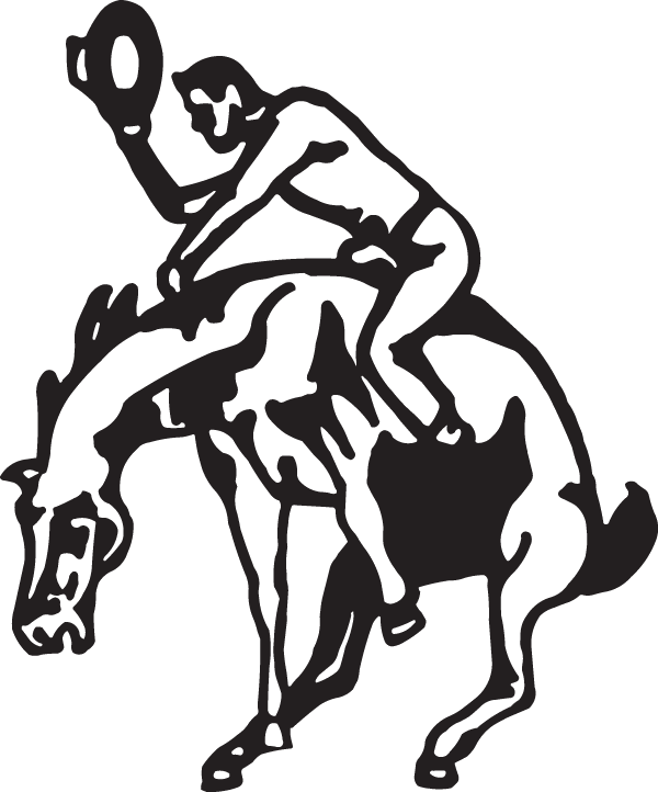 clip freeuse stock Cowboy on a bucking horse Decal