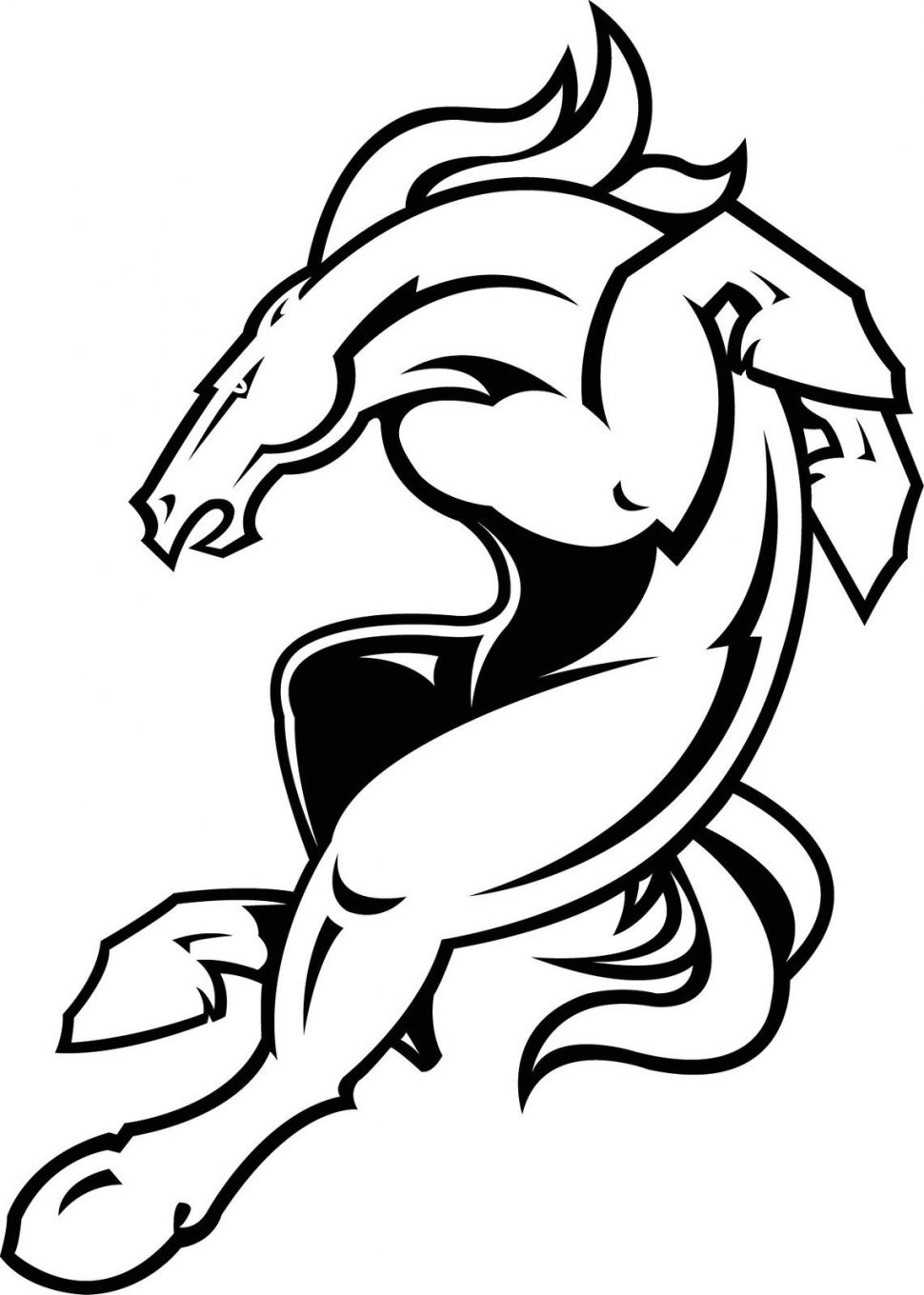 svg black and white download bronco drawing phone #132281934