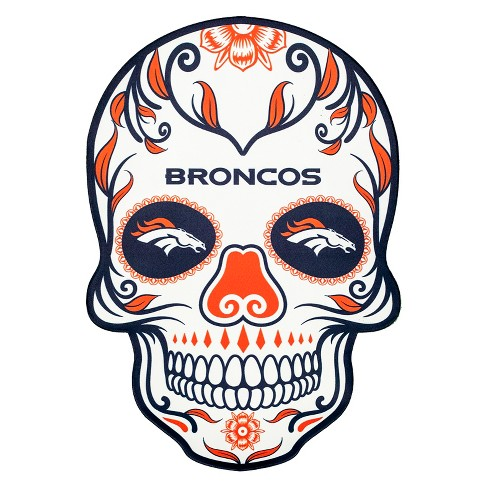 vector library stock Nfl denver broncos large. Bronco drawing skull