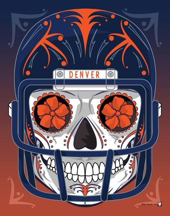clip free download Bronco drawing skull. Denver broncos sugar day