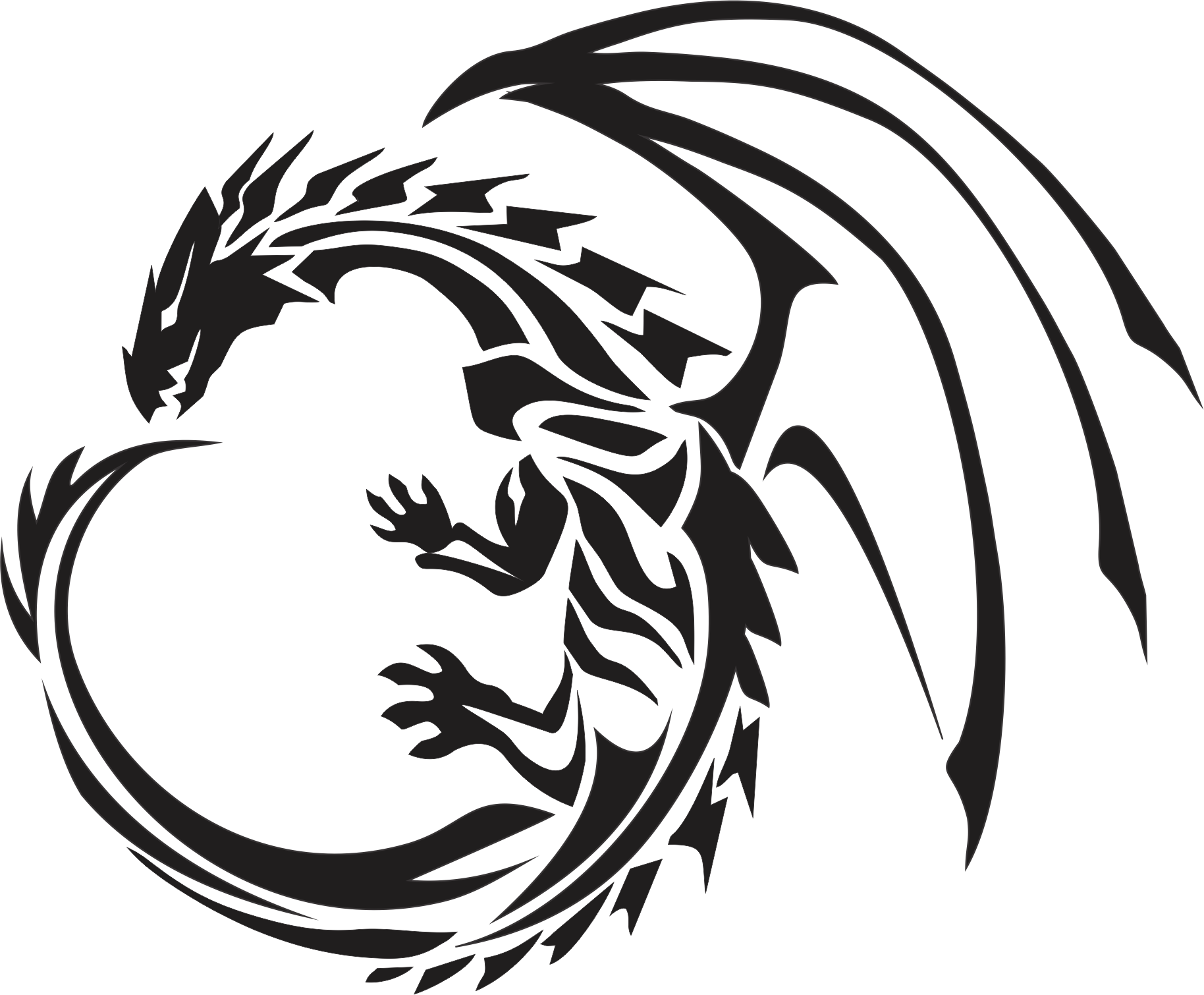 clip art download Tribal Dragon Drawing at GetDrawings