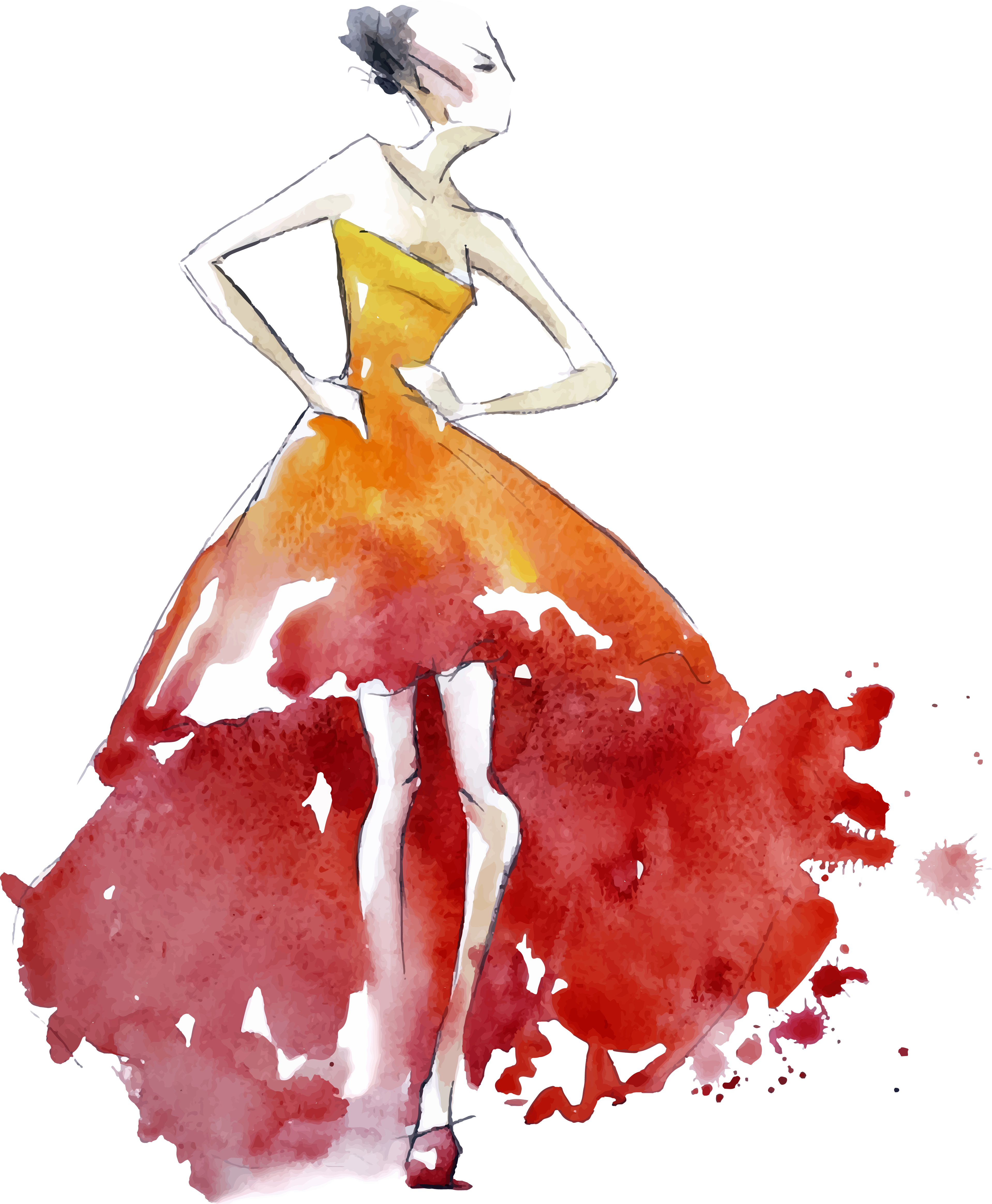 clipart freeuse library Cheesecake drawing watercolor. Fashion design illustration painted