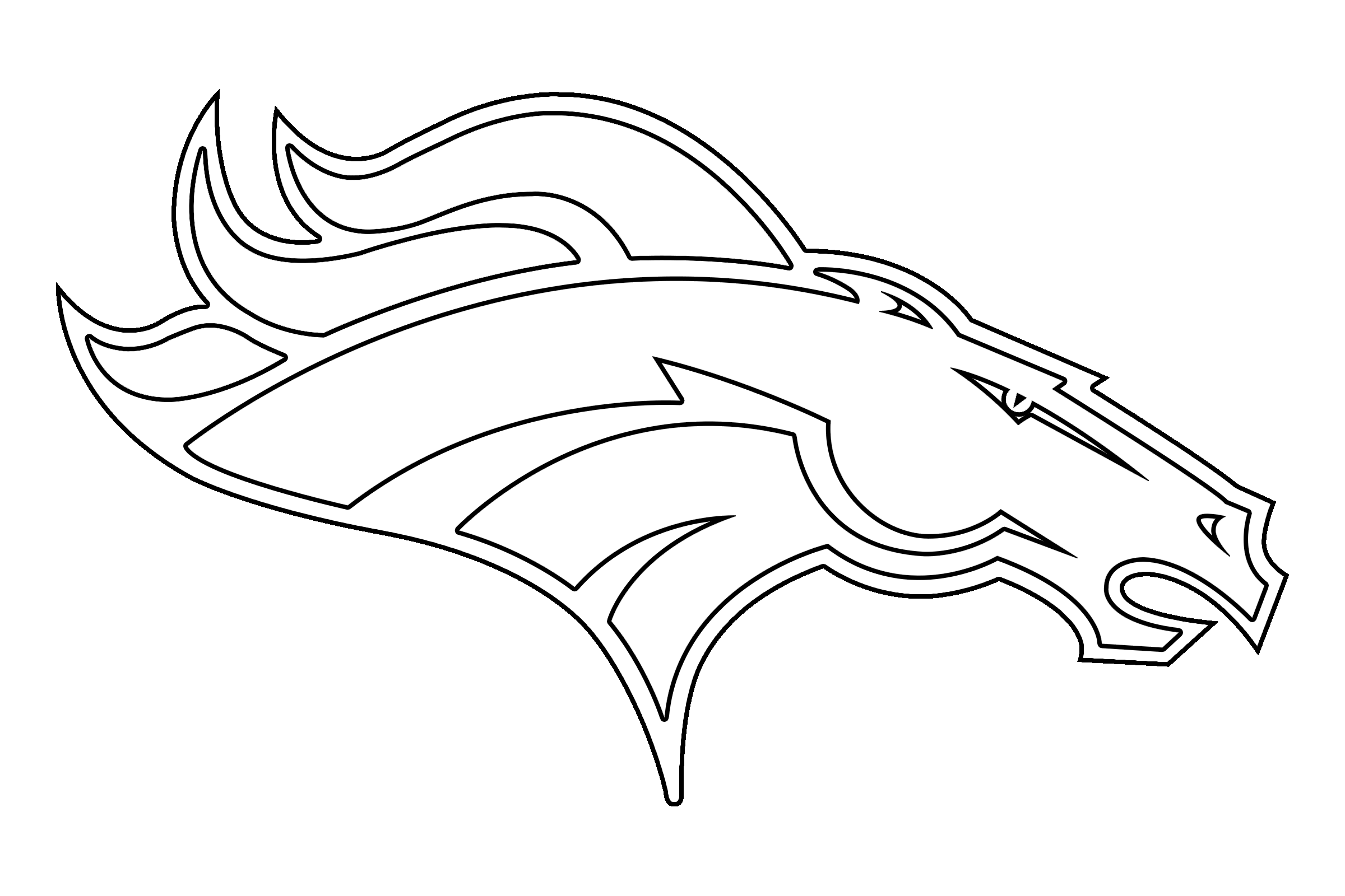 clip library stock Denver Broncos Logo PNG Transparent
