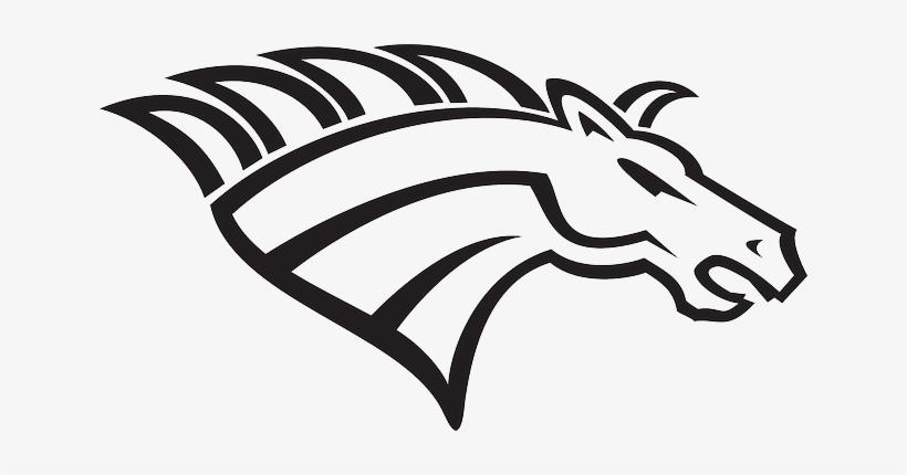 clip freeuse library Broncos svg head. Horse logo free transparent
