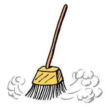 jpg black and white library Broom clipart. Cleaning clip art bluearbor